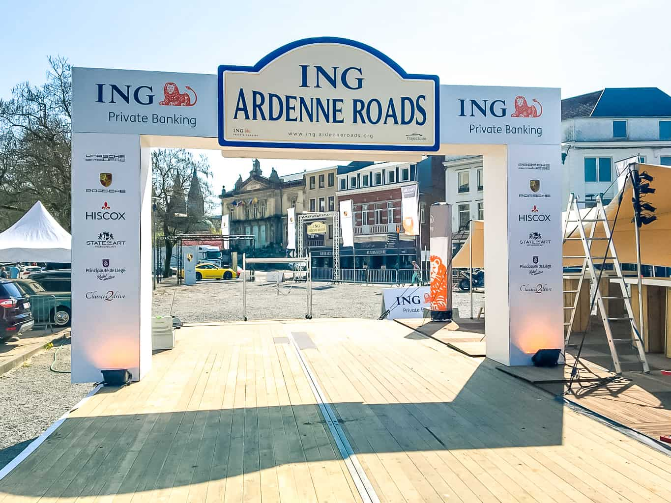 Tente pour Trajectoire à l'occasion de l'ING Ardennes Road. Conception par So Event