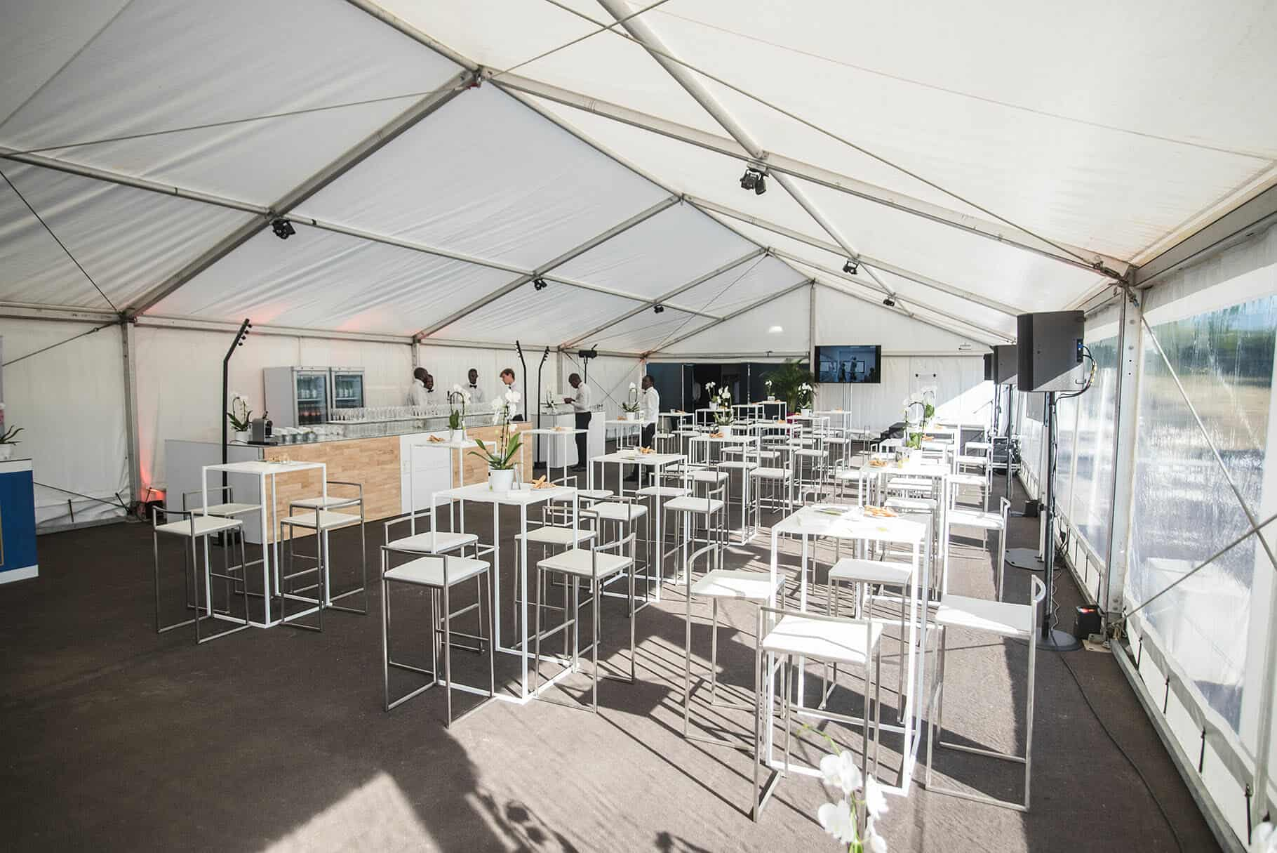 Inauguration de la Cookidienne réalisée par So Event sous un chapiteau